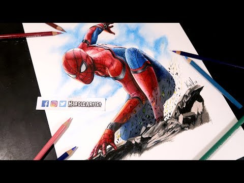 Como Dibujo A Spiderman Homecoming | How To Draw Spiderman