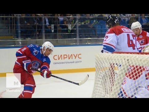 Gifted Athlete Putin Scores 7 Goals in Birthday Hockey Game | Mashable News