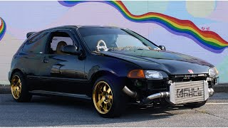 490HP TURBO HONDA EG Hatch REVIEW! The Most Fun Honda I've Ever Driven by That Dude in Blue