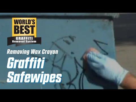 Wax Crayon off Garbage Bin