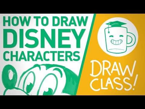 how to draw disney ch