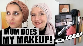 Mum does my makeup!! (using only her makeup)