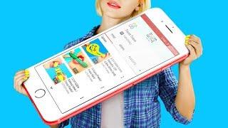 Video 10 DIY Giant vs Miniature Gadgets / School Pranks! MP3, 3GP, MP4, WEBM, AVI, FLV September 2018