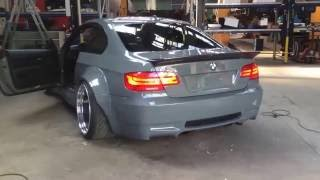 Brutal exhaust note on this widebody BMW E92