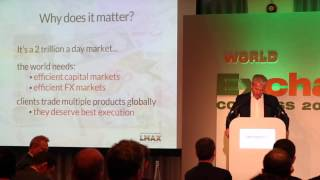LMAX Exchange CEO speaking at the World Exchange Congress