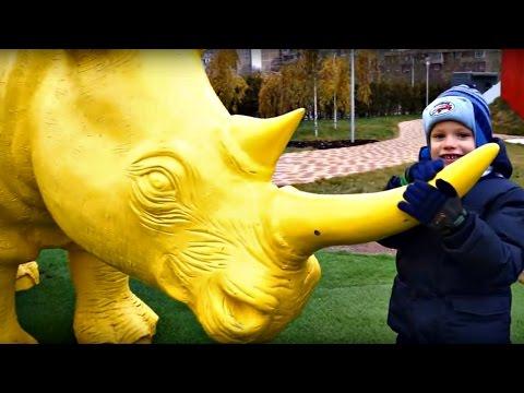 Прогулка в парке Буратино. Животные для детей. (видео)