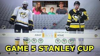 NHL Stanley Cup Playoffs Game 5 Pittsburgh Penguins vs Nashville Predators Predictor Crazy Ending