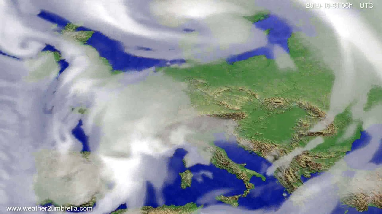 Cloud forecast Europe 2018-10-28