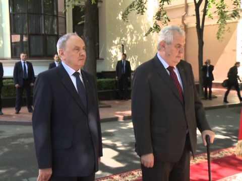 Președintele Nicolae Timofti a avut o întrevedere cu președintele Republicii Cehe, Miloš Zeman
