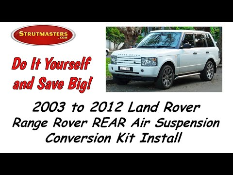 2003-2005 Range Rover Rear Air Suspension Conversion Installation