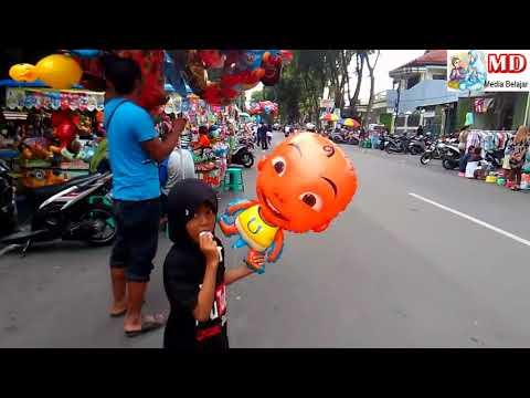 Banyak Penjual Balon Mainan, Qyla Beli Balon Helium Upin dan Dilepas  KUN Anta Versi UpinIpin