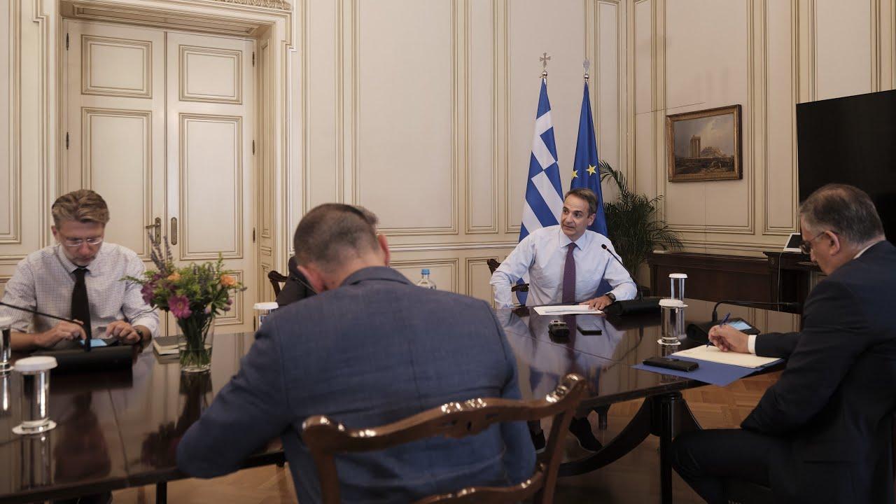 Σύσκεψη με αντικείμενο την εντατικοποίηση των ελέγχων εφαρμογής των μέτρων για τον κορονοϊό