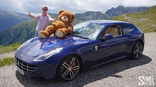 I have an unusual passenger in my Ferrari FF while joining some friends for a tour from Munich towards Lake Garda! With the trip organised by @gercollector, he wanted to being Teddy along, and with the FF having plenty of space it made sense for him to jump in... Not many teddy's have experienced mountain passes in a Ferrari! Life's too short not to have fun sometimes! What an awesome day though, driving with some amazing cars on great roads as we head towards one of the best views I've ever seen at Lake Garda.Thanks to @gercollector for the organisation! http://instagram.com/gercollector Thanks for watching, TimSubscribe: http://bit.ly/Shmee150YTWebsite: http://www.shmee150.comFacebook: http://www.fb.com/shmee150Instagram: http://www.instagram.com/shmee150