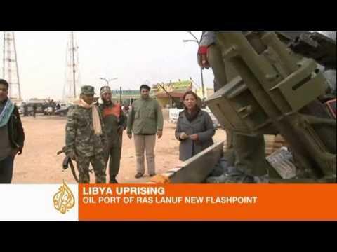 Libya rebels control oil port