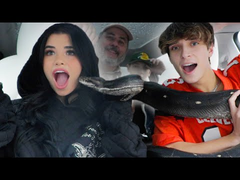 FILLING GIRLFRIEND'S CAR WITH GIANT SNAKE!! (SCARE PRANK)