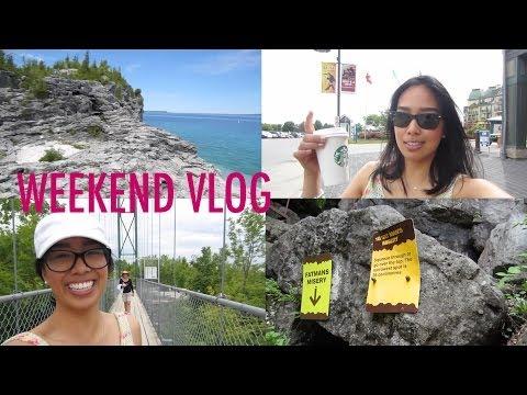 vlog | Bruce Peninsula, Blue Mountain, Scenic Caves (видео)