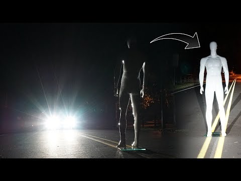 stopping a truck on clinton road with a mannequin... (part 1 of 2) *MUST WATCH* (видео)