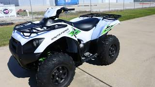 8. SALE $8,599:  2018 Kawasaki Brute Force 750 SE Metallic Stardust White Overview and Review