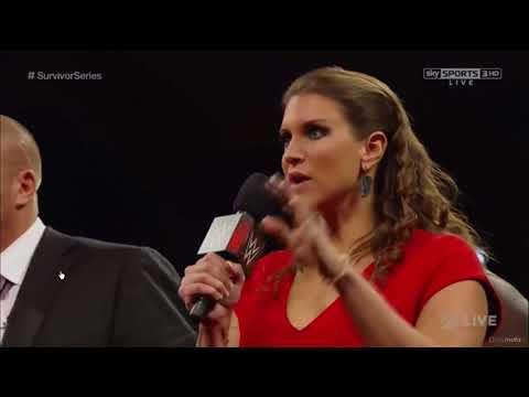 Team Cena vs Team Authority Contract Signing Monday Night Raw