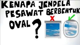 Kenapa Jendela Pesawat Terbang tidak Memiliki Sudut (Berbentuk Oval) ? Ini memang sepertinya pertanyaan yang simple, tapi coba kita lihat penjelasannya. ----...