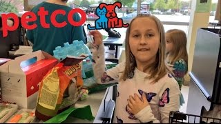 The little grimmettes go shopping at Petco for new pets and get guinea pigs, cage, food and supplies and their dad grims toy show reacts to them when he gets ...