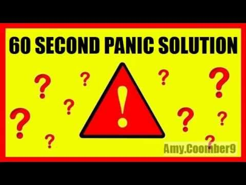 second - 60 Second Panic Solution Official Website Link: http://springeo.info/60PanicSolutionOfficial Hey, my name is Amy and I just wanted to share with you my experience with this program called...