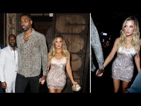 Khloe Kardashian Shines In Sexy Shimmery Mini-Dress For 33rd Birthday Bash
