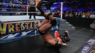 Brock Lesnar takes Triple H to Suplex City: Slow Mo Replay from WrestleMania 29 Video