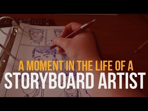 A moment in the life of a storyboard artist