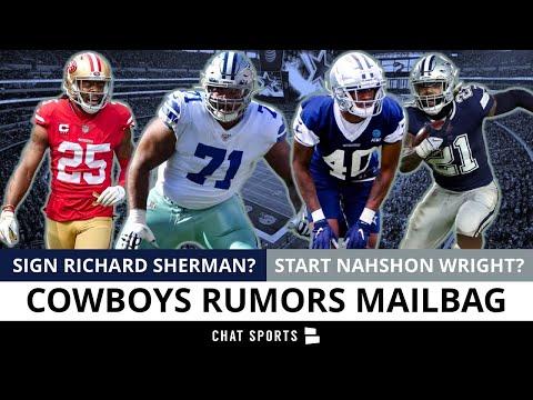 Cowboys Rumors: Sign Richard Sherman? Start Nahshon Wright? Trade Zeke? La'el Collins Future?   Q&A
