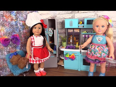 Cuisine pour poupée My Life Jojo Siwa et American Girl Refrigerator Kitchen Set
