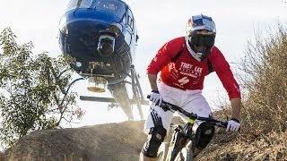 Helicopter chases Curtis Keene down incredible MTB trail - Heli POV - YouTube