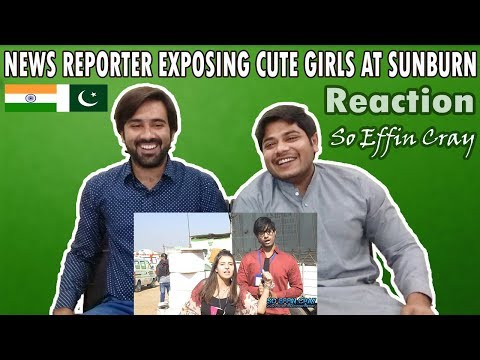 Pakistani Reacts To | News Reporter Prank At Sunburn | So Effin Cray | Table Top Reactions