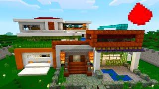 "MCPE MODERN REDSTONE HOUSE - ""Array"" - (w/ 30+ Redstone Creations/Redstone Builds)"