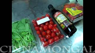 Cinnamongal KiTchen How To make SalamiStrawberry rocket salad at Home