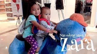Zara naik odong odong robot bentuk hewan lucu - main sambil belajar bahasa inggris nama nama hewan