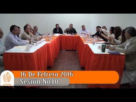 Sesión Ordinaria No. 10 de Ayuntamiento 16 de febrero de 2016