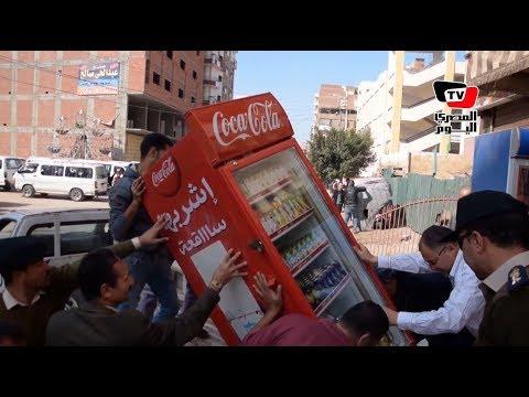 حملة أمنية لأزالة المخالفات والبائعين الجائلين بالدقهلية