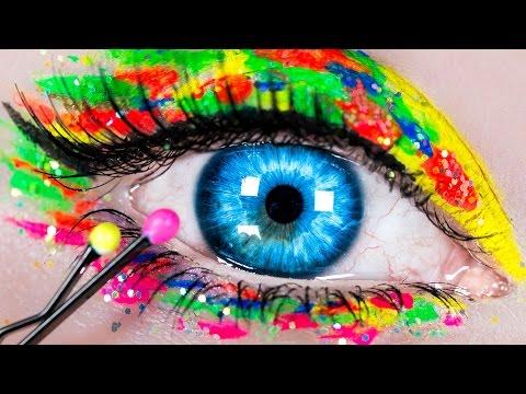 DIY Makeup Hacks! Makeup Tutorial with 10 DIY Makeup Life Hacks for Beginners (видео)