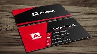 Professional Business Card in CorelDRAW - PinkSTRIKE Design™