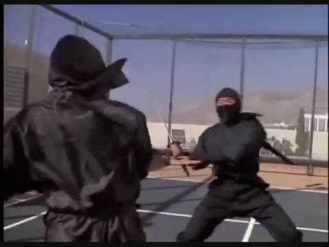 ninja - Revenge of The Ninja (1983) Great Final Fight: The Black Ninja (Sho Kosugi) vs The Silver Mask Ninja in death match.