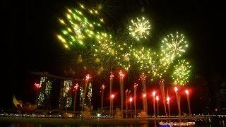 Video Singapore Marina Bay 2016 New Year Countdown Fireworks 2 video cams MP3, 3GP, MP4, WEBM, AVI, FLV Oktober 2017