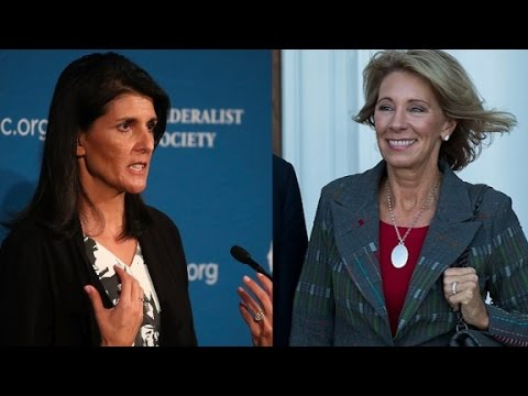 Haley, DeVos among Trump's Cabinet picks