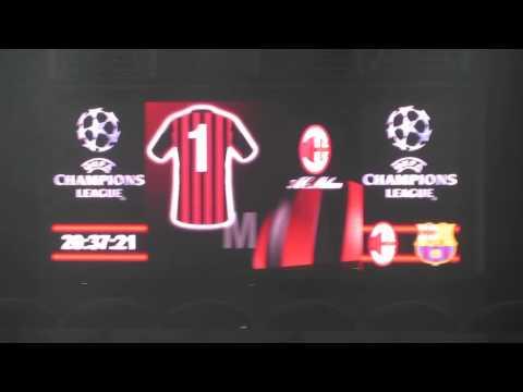 Formazioni Milan-Barcellona del 22/10/2013
