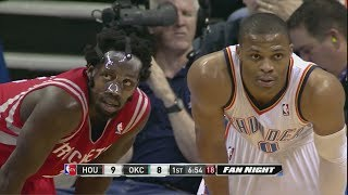 russell westbrook - patrick beverley - oklahoma city thunder - houston rockets
