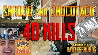 Video PUBG | Shroud and chocoTaco | 40 Kills MP3, 3GP, MP4, WEBM, AVI, FLV Juni 2019