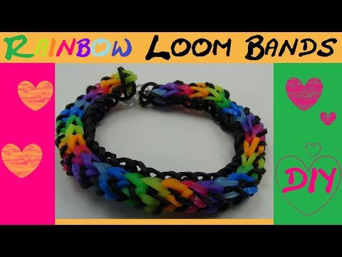 DIY Rainbow Loom Bands mit tollem Muster