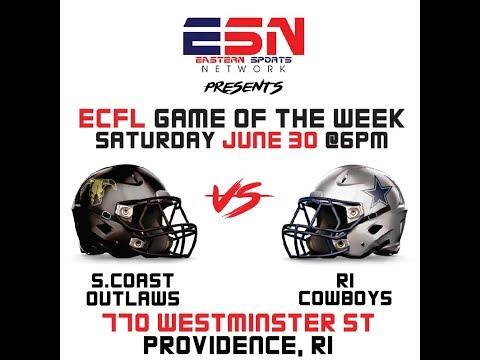2018 ECFL GOTW South Coast Outlaws vs RI Cowboys