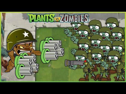 Plants vs Zombies - Episode 4 - 1 Threepeater vs 9999 Zombies Heroes vs Dr. Zomboss