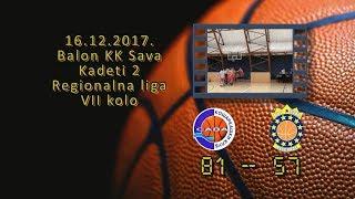 kk sava2 kk all star 81 57 (kadeti 2, 16 12 2017 ) košarkaški klub sava